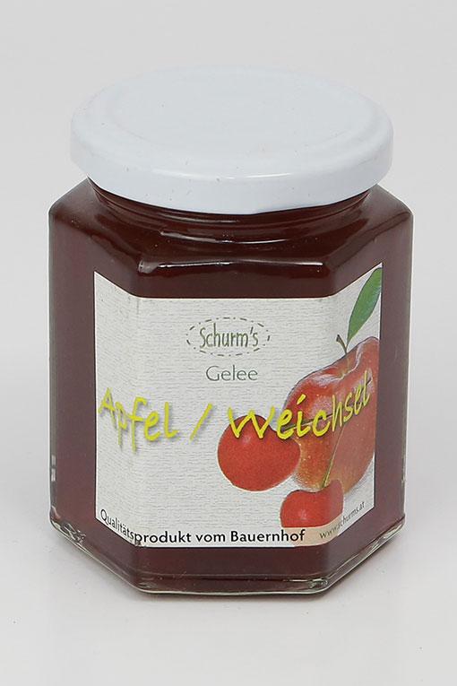 Produktbild Apfel-Weichselgelee 200g von Schurms Obsthof