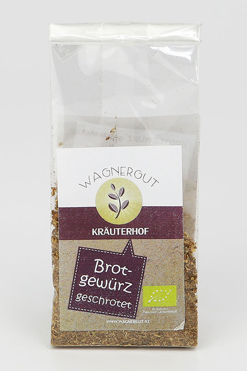 Produktbild Brotgewürz geschrotet von Kräuterhof Wagnergut