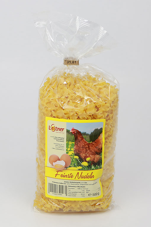 Produktbild Feinste Nudeln - Fleckerl von Gertrude Leitner