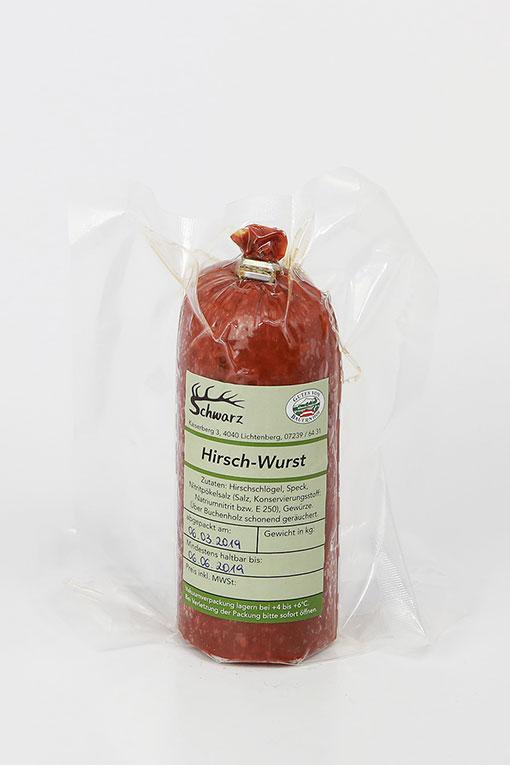 Produktbild Hirschdauerwurst von Schwarz