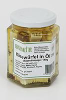 Käsewürfel in Öl