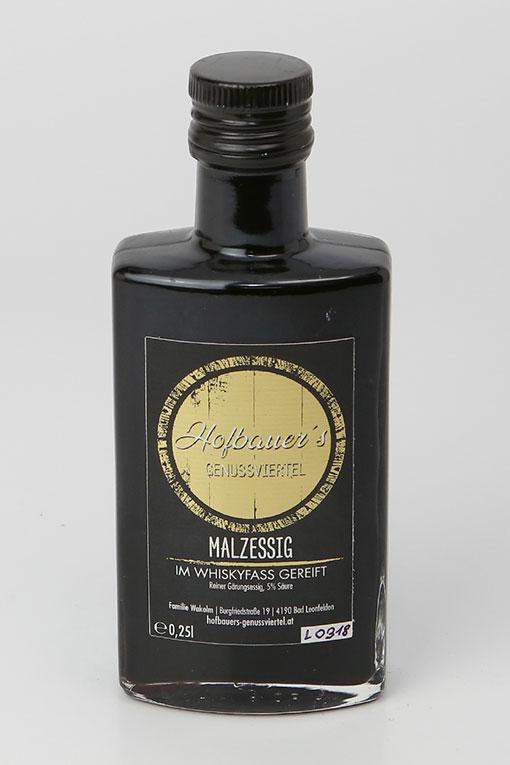 Produktbild Malzessig im Whiskyfass gereift von Hofbauers Genussviertel